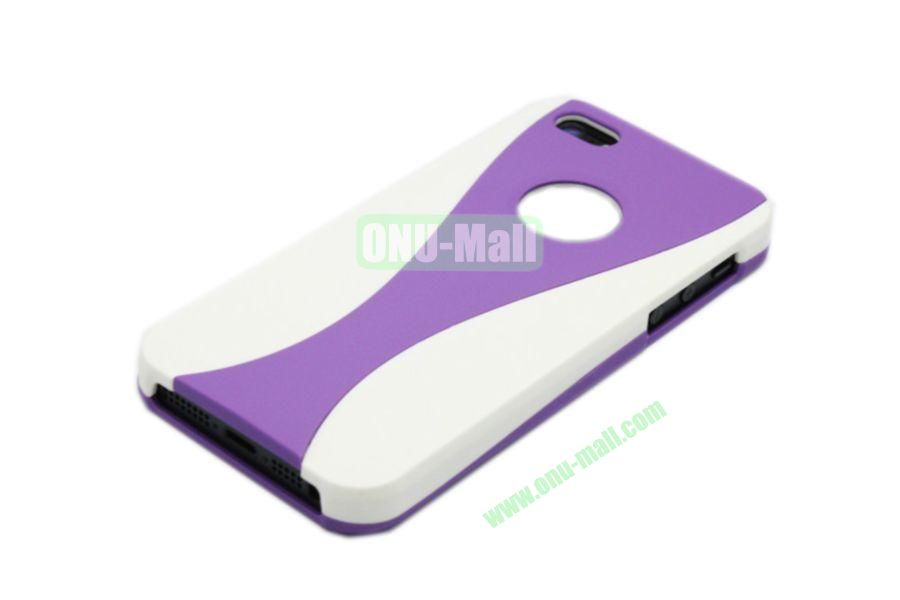 Wholesale Three in one Hybrid Dual Color Wineglass Style Design Wine Cup Shape Case for iPhone5(White+Purple)