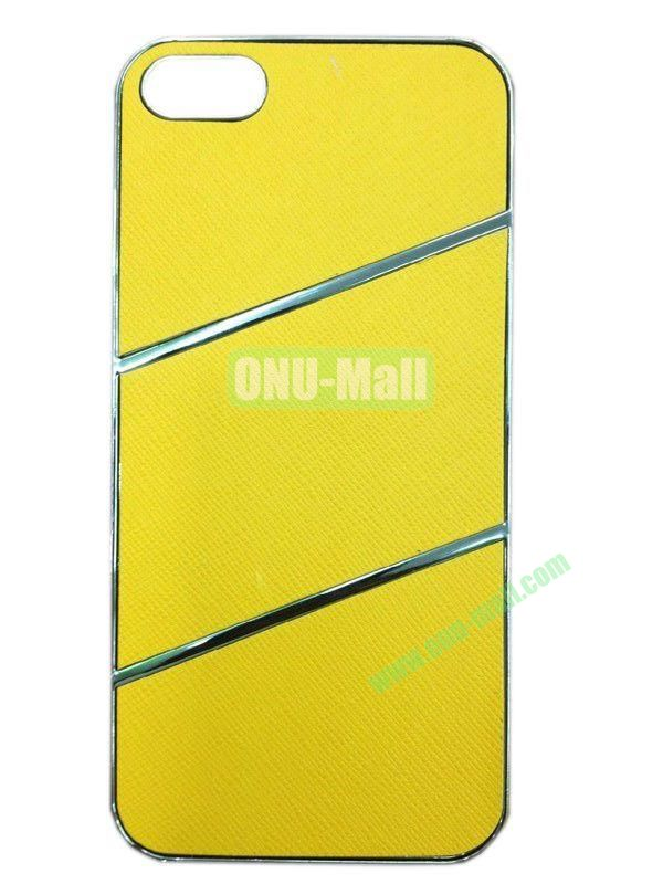 Elegant Simple Style Plating Hard Case for iPhone5(Yellow)