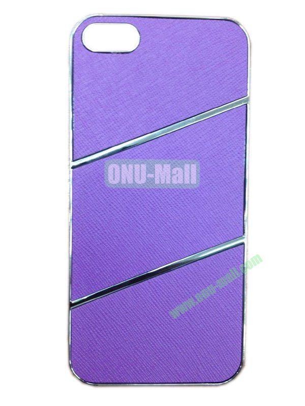 Elegant Simple Style Plating Hard Case for iPhone5(Purple)