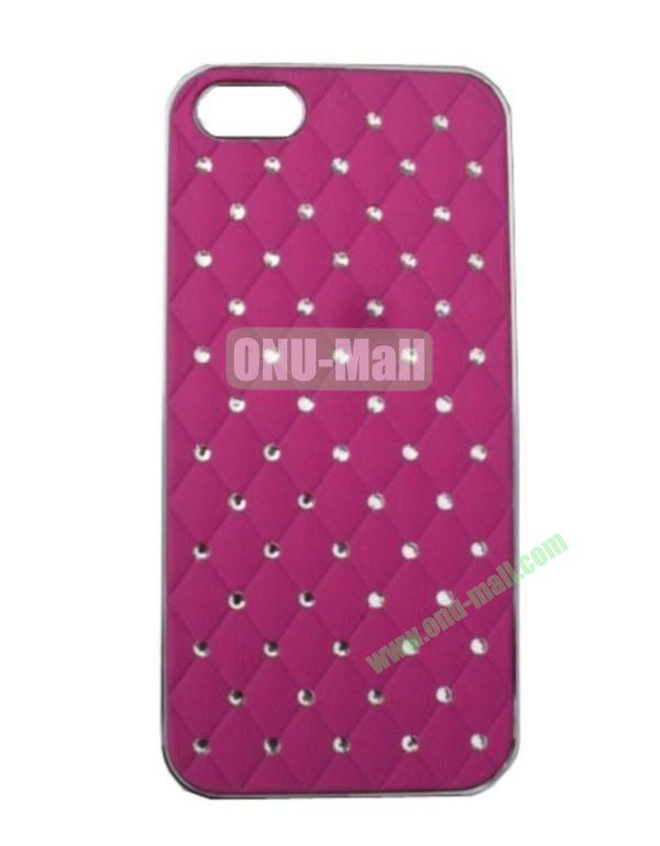 Bling Bling Diamond Case Cover for iPhone 5 with Electroplating Frame(Rose)