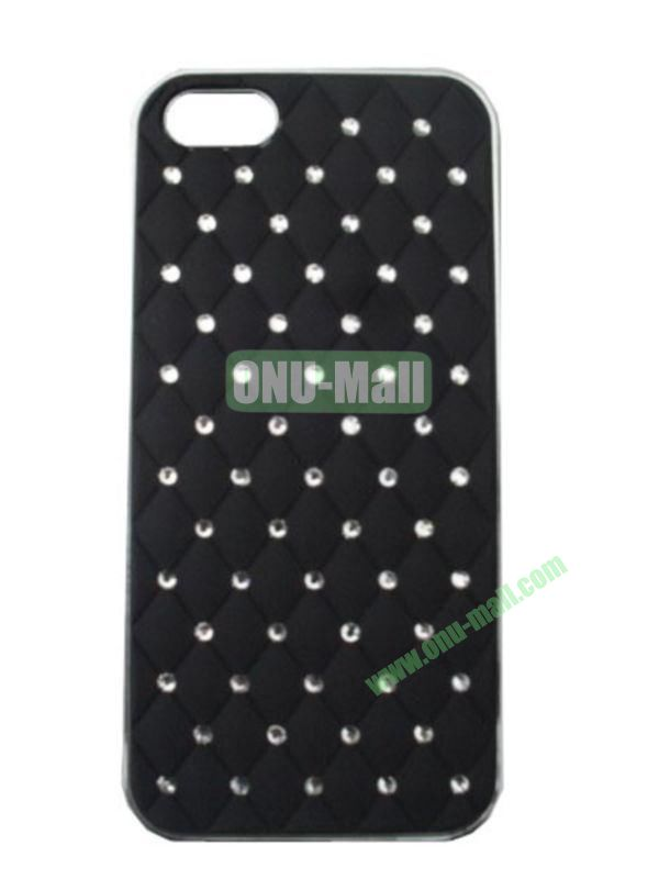 Bling Bling Diamond Case Cover for iPhone 5 with Electroplating Frame(Black)