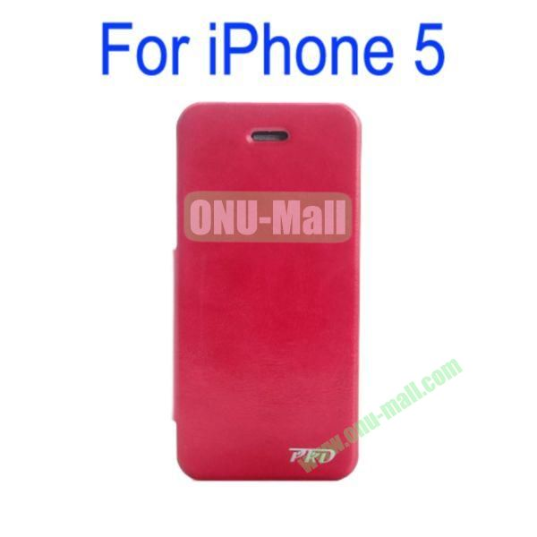 Special Design Ultrathin Leather Case Cover with Stand for iPhone 5(Rose)