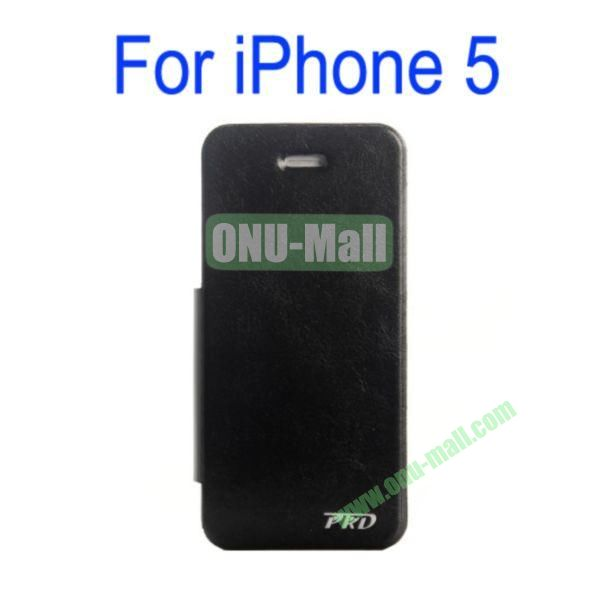 Special Design Ultrathin Leather Case Cover with Stand for iPhone 5(Black)