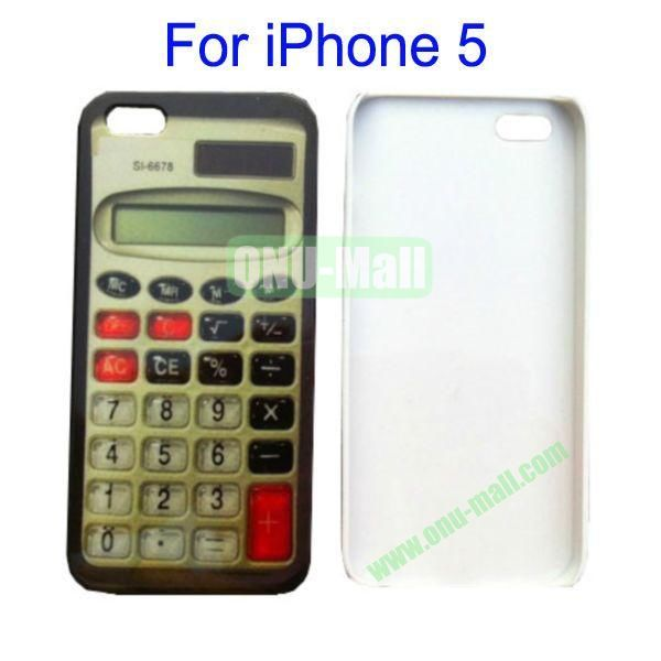 Calculator Pattern Hard Case for iPhone 5