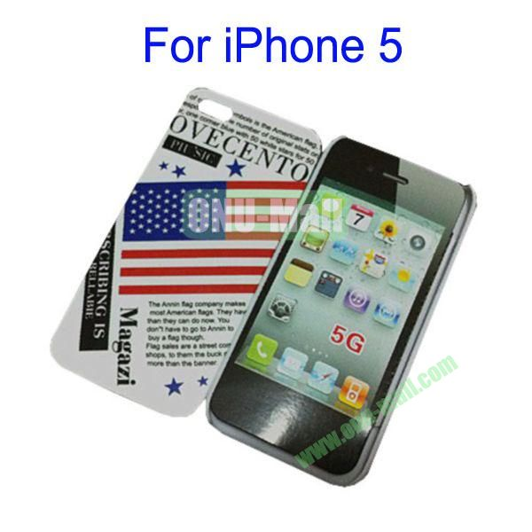 USA  American Flag Skin Hard Case for iPhone 5