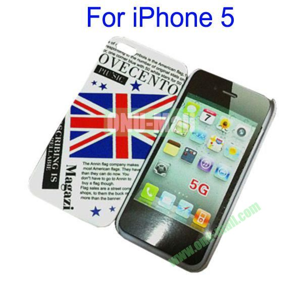 UK Flag Skin Hard Case for iPhone 5