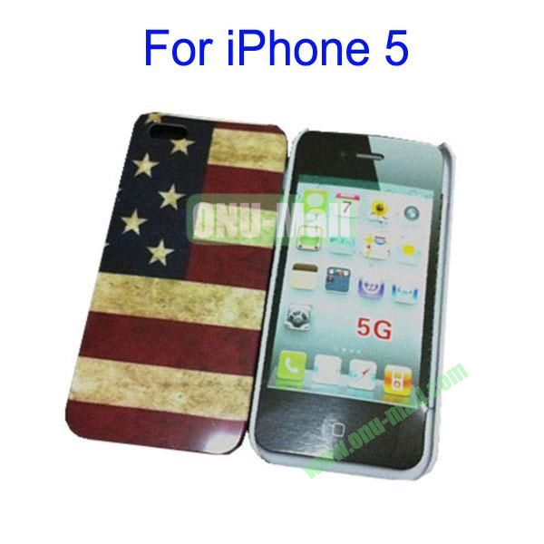 Retro USA Flag Hard Case for iPhone 5