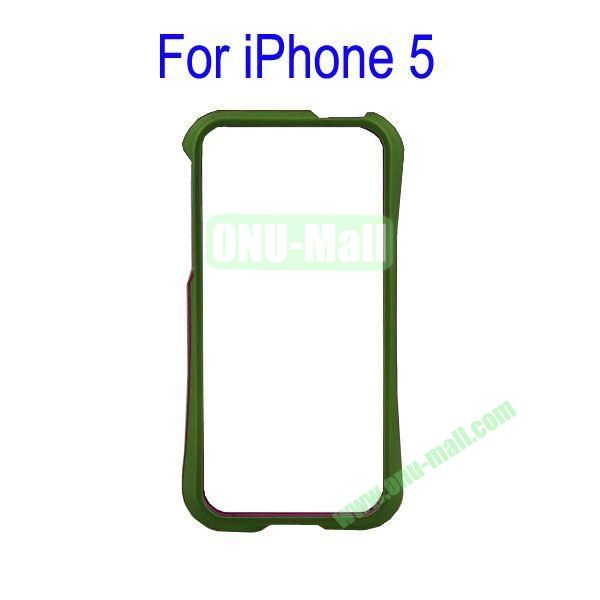 Color Mixing Plastic Frame Case Cover for iPhone 5(Green+Purple)