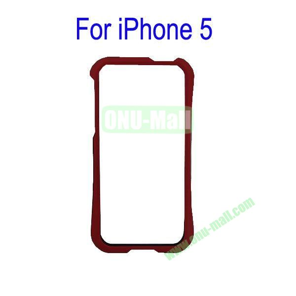 Color Mixing Plastic Frame Case Cover for iPhone 5(Red+Black)