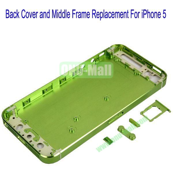 High Quality Back Cover and Middle Frame Replacement for iPhone5(Green)