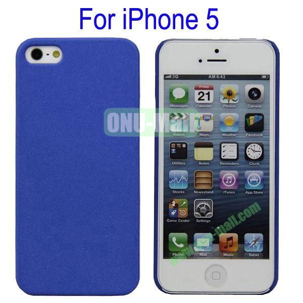 Ultrathin Quicksand Hard Case Cover for iPhone 5(Dark Blue)