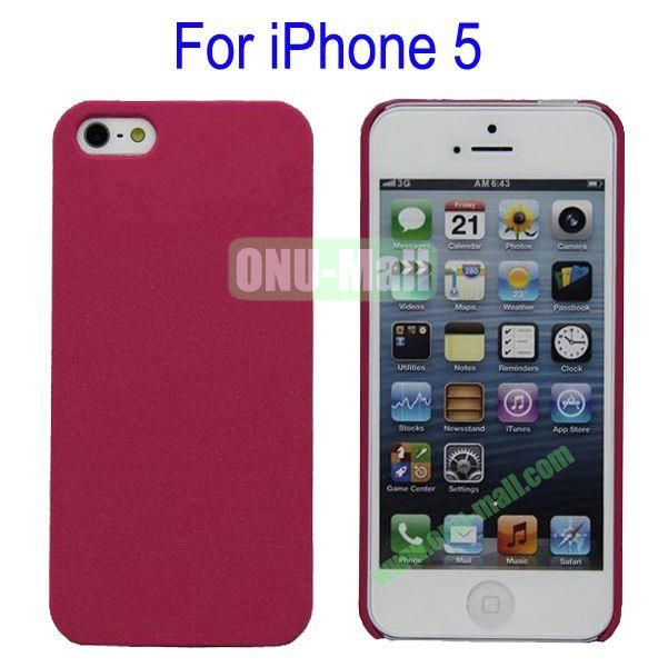 Ultrathin Quicksand Hard Case Cover for iPhone 5(Rose)