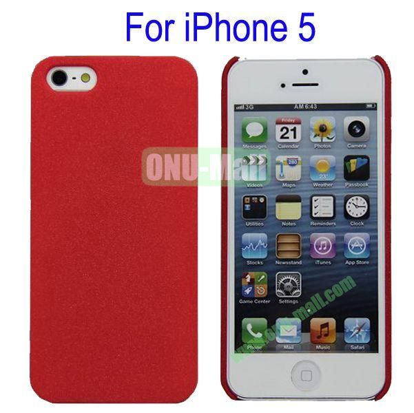 Ultrathin Quicksand Hard Case Cover for iPhone 5(Red)