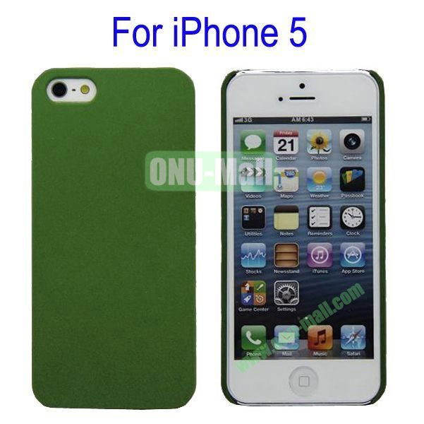 Ultrathin Quicksand Hard Case Cover for iPhone 5(Green)
