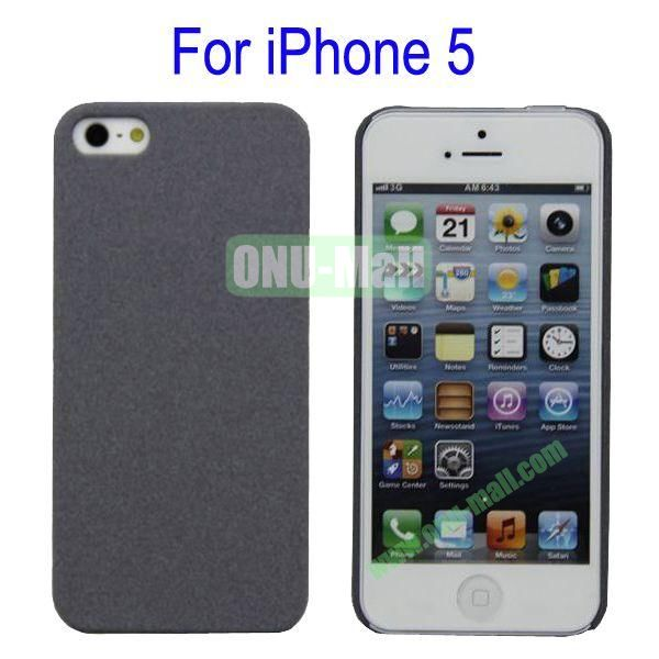Ultrathin Quicksand Hard Case Cover for iPhone 5(Grey)