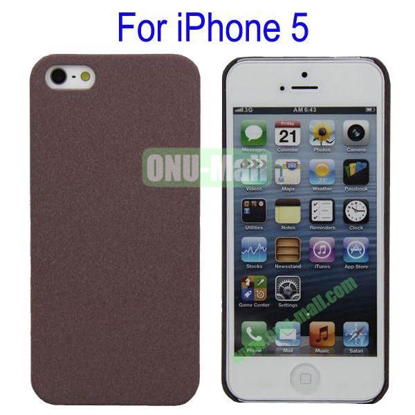 Ultrathin Quicksand Hard Case Cover for iPhone 5(Brown)