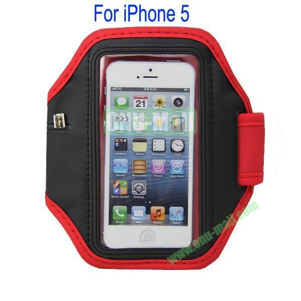Gym Sport Armband Case for iPhone 5(Red)