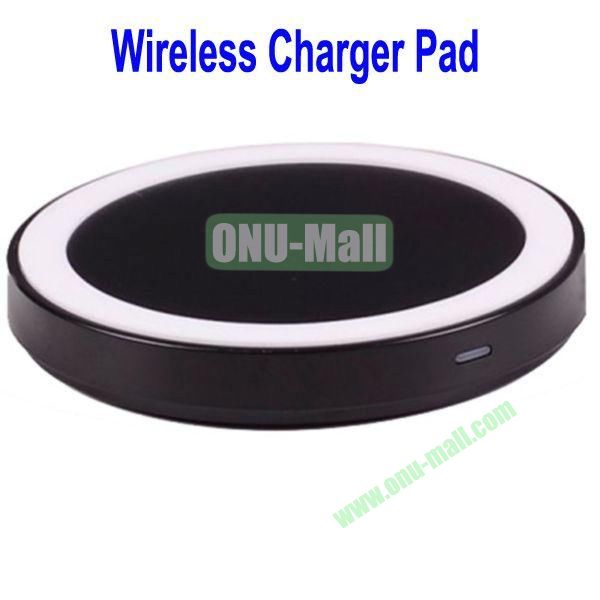 Wireless Charger Pad with Power Adapter for Galaxy S4,Galaxy S3, Note 2,Nokia Lumia 920, LG Nexus 4 with Receiver Case, etc(Black+White)
