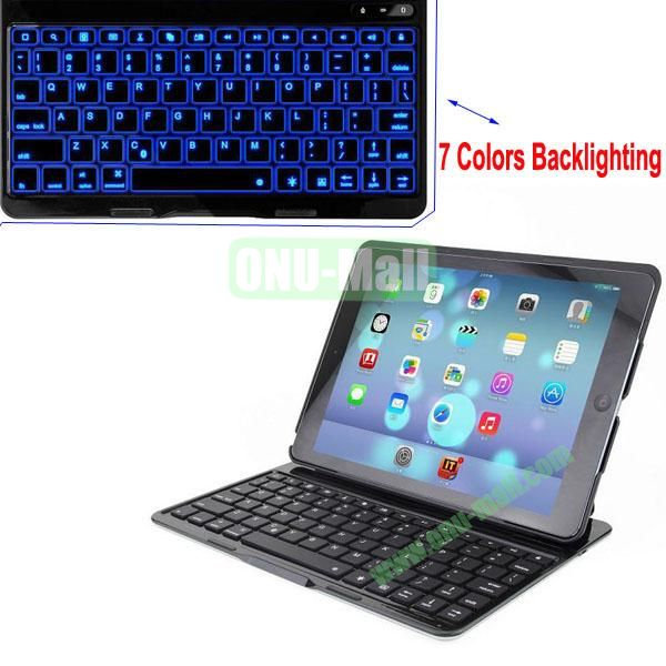 Automatic Connecting Bluetooth Keyboard for iPad Air with 7 Colors Backlighting(Black)