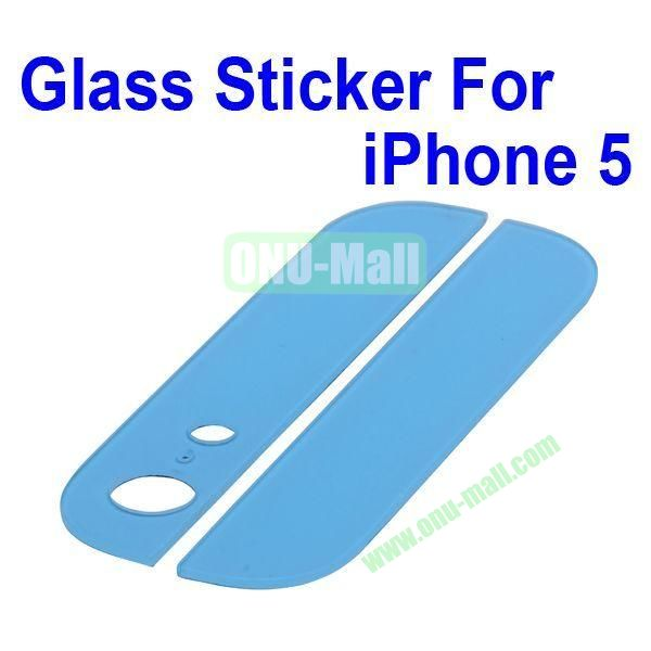 Delicate Ultra Slim Top And Buttom Glass Replacement Spare Parts for iPhone 5 (Blue)