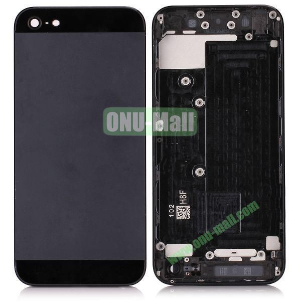 Back Cover Housing with Middle Frame Bezel for iPhone 5 (Black)