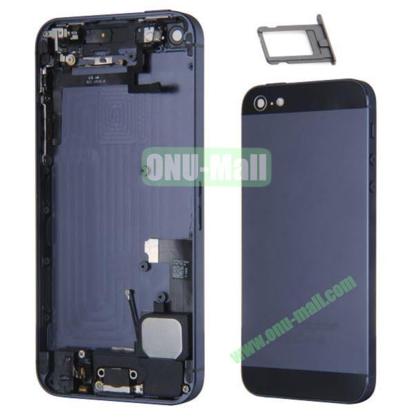 Back Cover Replacement Repair Parts for iPhone 5 with Battery (Black)