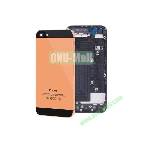 Spare Parts Back Cover Replacement Repair Parts for iPhone 5 (Orange+Black)