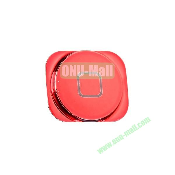 Colorful Spare Parts Replacements Home Buttons for iPhone 5 (Red)