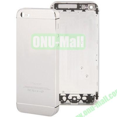Full Housing Alloy Diamond Back Cover Faceplate Replacement for iPhone 5 (White)