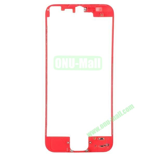 Colored LCD Supporting Frame Replacement Parts for iPhone 5 (Red)
