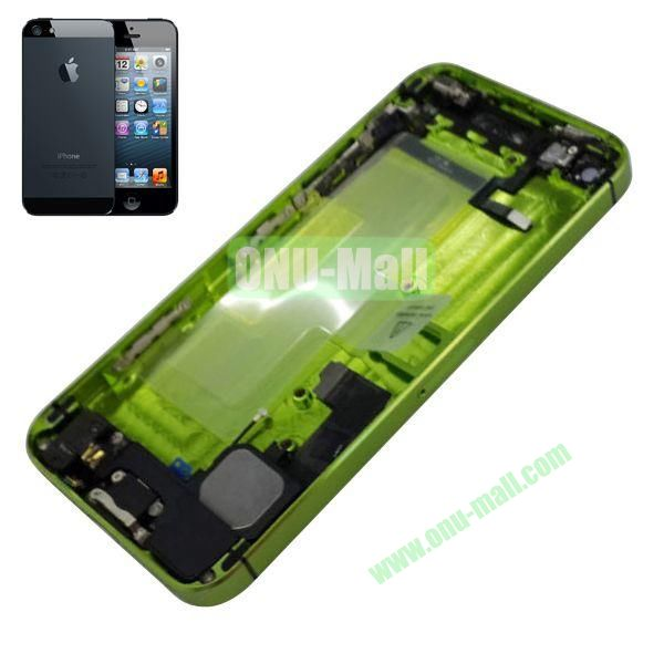 Back Cover Housing with Small Parts Assembly Replacement Parts for iPhone 5 (Green)