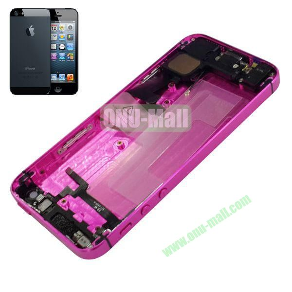 Back Cover Housing with Small Parts Assembly Replacement Parts for iPhone 5 (Rose)