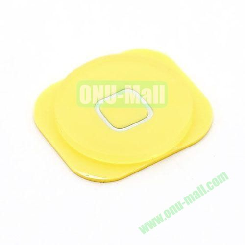 Home Button Key Replacement Spare Part for iPhone 5 (Yellow)
