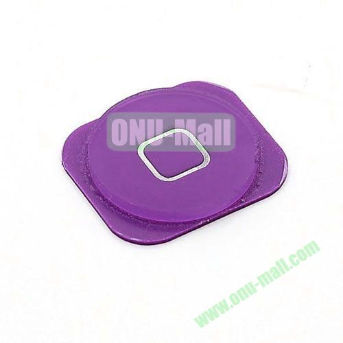Home Button Key Replacement Spare Part for iPhone 5 (Purple)