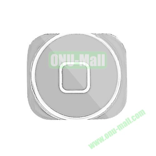 Electroplating Home Button Key Replacement for iPhone 5 (Silver)