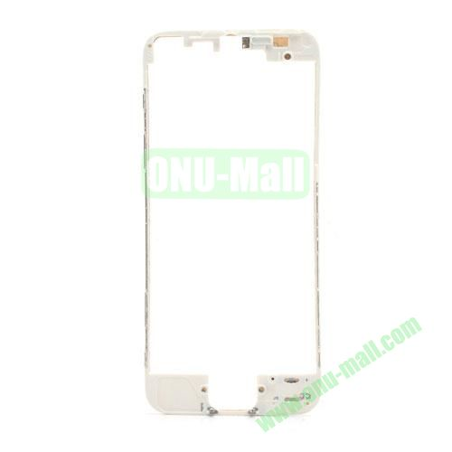 Colored LCD Supporting Frame with 3M Adhesive Sticker Replacement for iPhone 5 (White)