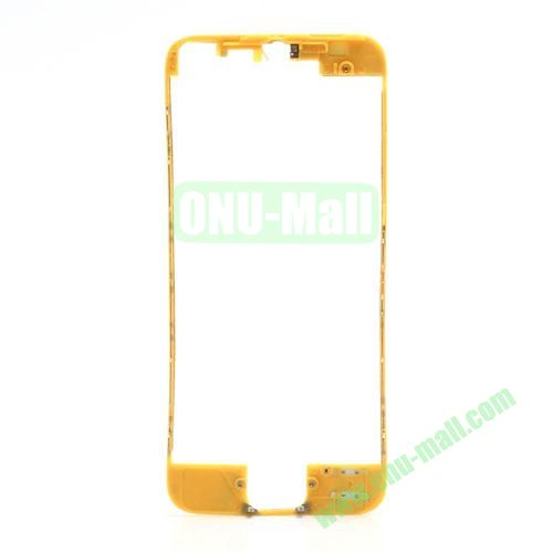 Colored LCD Supporting Frame with 3M Adhesive Sticker Replacement for iPhone 5 (Yellow)
