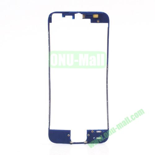 Colored LCD Supporting Frame with 3M Adhesive Sticker Replacement for iPhone 5 (Dark Blue)