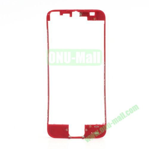 Colored LCD Supporting Frame with 3M Adhesive Sticker Replacement for iPhone 5 (Red)