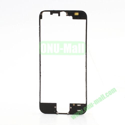 Colored LCD Supporting Frame with 3M Adhesive Sticker Replacement for iPhone 5 (Black)