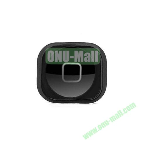 OEM Home Button Key with Rubber Ring Gasket Replacement for iPhone 5 (Black)