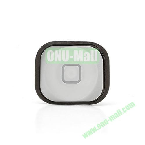 OEM Home Button Key with Rubber Ring Gasket Replacement for iPhone 5 (White)