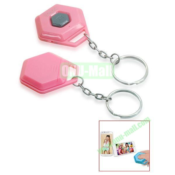 iPega Hexagon Shape Mini Universal Bluetooth Remote Control Self-Timer for iOS iPhone iPad Samsung Android Smartphone (Pink)
