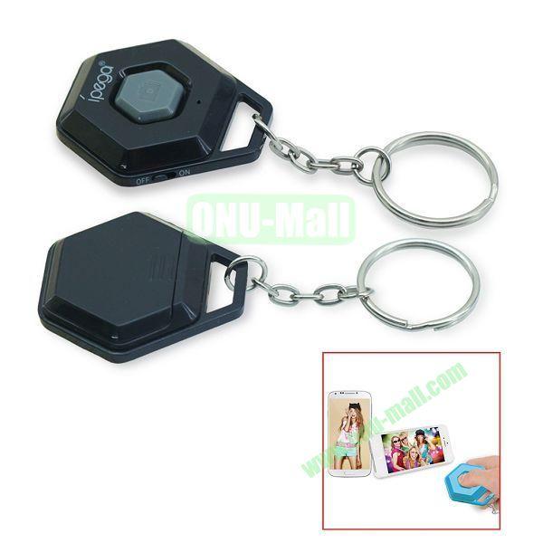iPega Hexagon Shape Mini Universal Bluetooth Remote Control Self-Timer for iOS iPhone iPad Samsung Android Smartphone (Black)