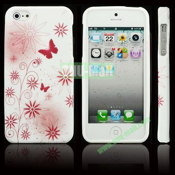Elegant Pattern Soft TPU Case For iPhone 5 5S (Elegant Flowers)