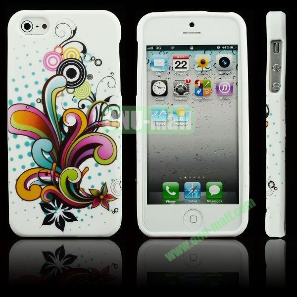 Elegant Pattern Soft TPU Case For iPhone 5 5S (Colorful Flower)
