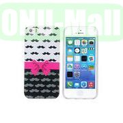 Fashion Image Design Smooth Texture TPU Case for iPhone 5 5S (Pink Bow Tie)