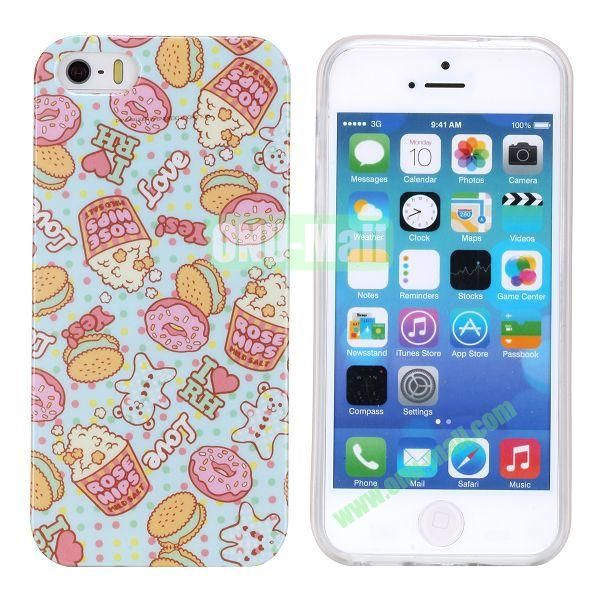 Fashion Image Design Smooth Texture TPU Case for iPhone 5 5S (I Love HR)