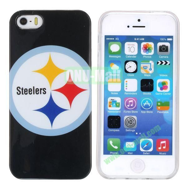 Fashion Image Design Smooth Texture TPU Case for iPhone 5 5S (Steelers)