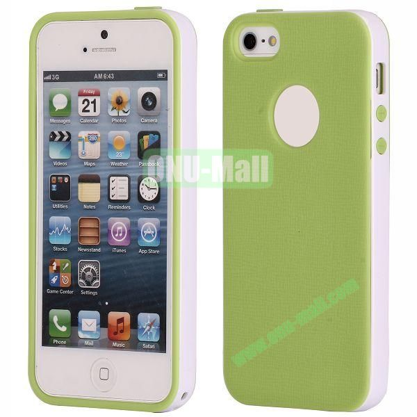 Two-tone Detachable Anti-skidding TPU Case for iPhone 5 5S (Green)